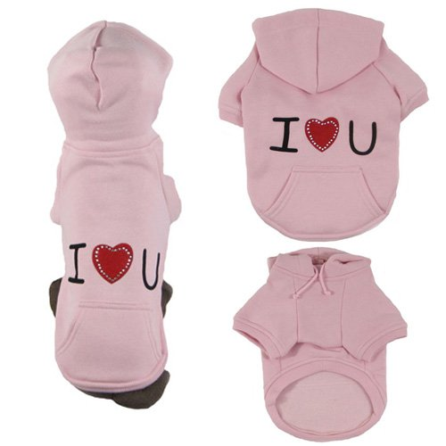 Platinum Pets Dog Pink Sweatshirt Hoodie Dog Jacket, X-Small, My Pet Supplies