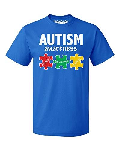 (Autism Awareness Support Jigsaw Puzzle Men's T-Shirt, S, Royal)