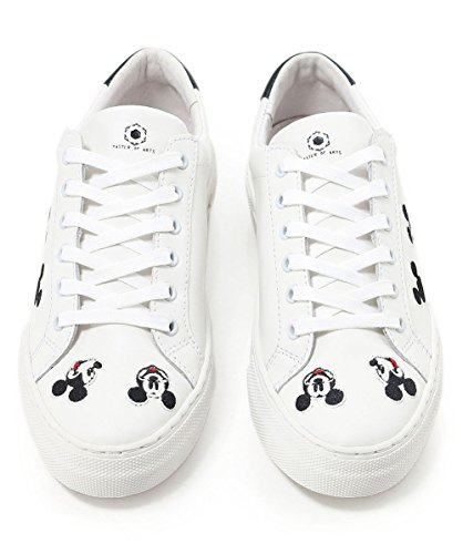 Embroidered Arts White Trainers White of Women's Disney Master MOA Mickey qXEWHO
