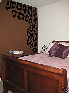 Awesome leopard print dress up wall art vinyl for Dining room wall art amazon
