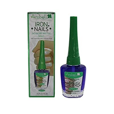 Arobell Iron Nail Hardener, No more brittle nails, for Unisex, 0.4 Ounce