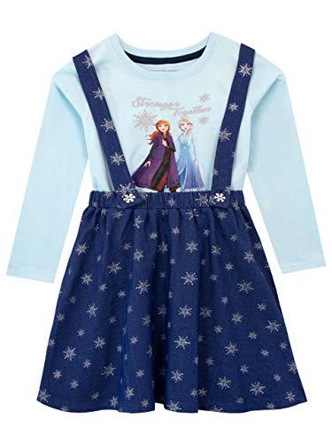 Disney Girls Frozen Pinafore Dress and Top