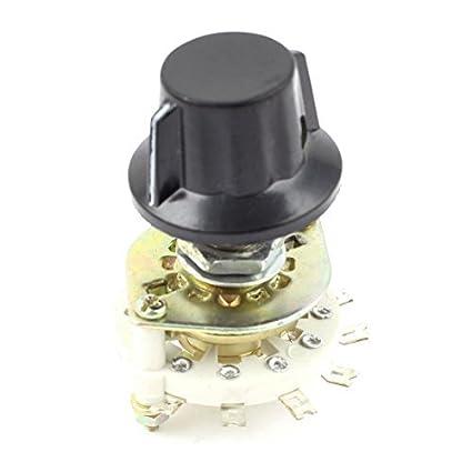 Interruptor de canal de banda guitarra Seleccionar Rotary 1 Pole Posición 6 1P6T w Perilla