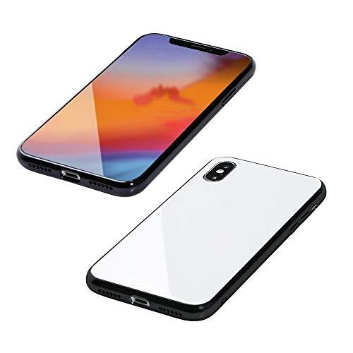 コンサート偽装する他にDeff(ディーフ) Hybrid Case Etanze for iPhone XS Max エタンゼ iPhone XS Max対応 ガラス (ホワイト)