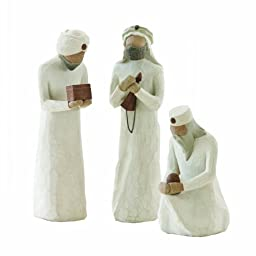 Demdaco Willow Tree 8.5-inches The Three Wisemen for the Nativity, Resin metal