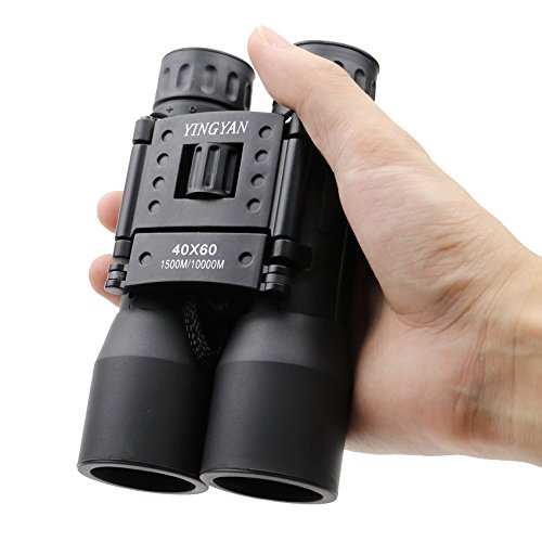 [Binoculars Zoom 40x60 Field glasses Great Handheld Telescopes hot sale HD Powerful binoculars. For Birds Watching/ Wildlife/ Hunting/ Camping/ Hiking/ Tourism/ Live Concert, Black- 1500m/10000m] (Resolution Multi Coated 30mm Filter)