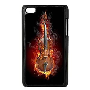 iPod Touch 4 Case Black Fire 56 Toepe