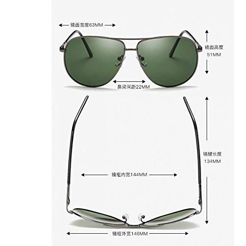 clásicos Sol Hombres de Gafas frame para dark de de polarizados de Metal Espejuelos Marco polarizados Color de Burenqiq Black Espejos con Metal Oscuro Película polarizadas Verde green Moda Dorado Z8xqEvwwa