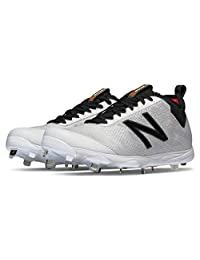New Balance LowCut 406 Mens Metal Baseball Cleat 11 White-Black