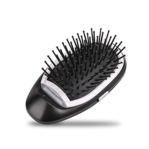 (Mini Ionic Hair Brush, LEEGOAL Portable Electric Ionic Hairbrush Styling Combs Scalp Massager for All Hair Types, Hair Detangler, Antic-Static, Natural Shine)