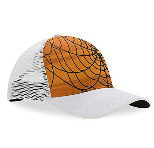 YongColer Halloween Spider Web Hat Women Men Cute Adjustable Baseball Cap -