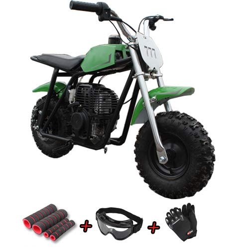 X-Pro 40cc 4-Stroke Kids Pit Bike with Pull Start! Chain Drive, Disc Brakes! 4.10-6 Tires! Purchase with Gloves, Goggle and Handgrip! (Red) -