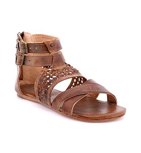 Bed|Stu Women's Capriana Leather Sandal (8.5 M US, Tan Mason)