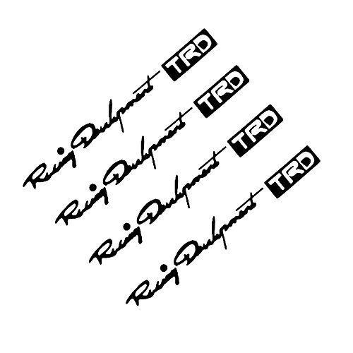 (Finance Plan 4Pcs Racing Development TRD Car Door Handle Stickers Auto Decals Decoration - Black)