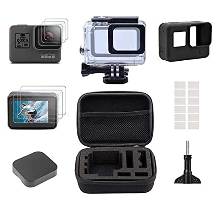 2c9c4244db4e Accessories Set for GoPro Hero 6 5,Gopro Hero5 Accessory Kit Small Travel  Case,Housing Case, Screen Protector,Lens Cover,Silicone Protective Case  (not ...