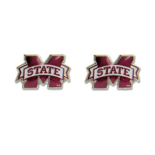 aminco Mississippi State Bulldogs Post Stud Logo Earring Set Charm Gift