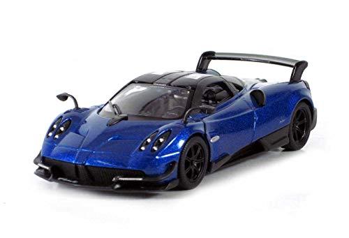 KiNSMART 2016 Pagani Huayra BC 5400D - 1/38 Scale Diecast Model Toy Car but NO Box (Blue)
