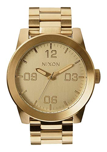Nixon Corporal SS A346502-00. Gold Men's Watch (48mm Gold Watch Face. 24mm Gold Steel Band) -