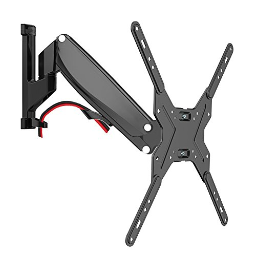 Loctek S4 Gas Spring Height Adjustable Full Motion 50'-60' Interactive TV Wall Mount with Weight Capacity 31-50.6lbs and Max Distance 13.7' to Wall