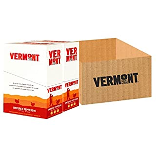 Vermont Smoke & Cure Meat Sticks- Antibiotic Free Turkey Sticks - Gluten-Free Snack - Paleo and Keto Friendly - Nitrate Free - Uncured Pepperoni - 1oz Stick - 48 Count