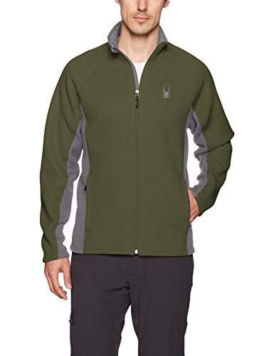 Spyder Men's Foremost Full Zip Heavy Wt Stryke Jacket, Guard/Polar, XX-Large
