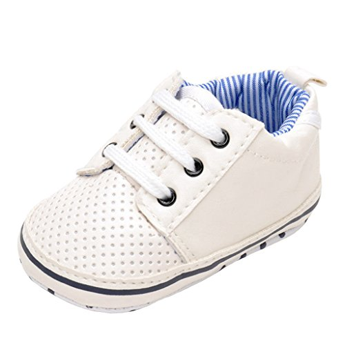 Annnowl Infant Sneakers Anti-skid Soft Baby Boy Shoes 0-18 Months (0-6 Months)