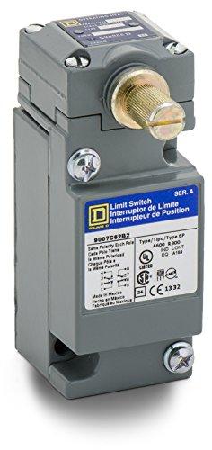 Square D 9007C62B2 Heavy Duty NEMA Limit Switch, Standard Operation, 2 Pole, Std. Rotary Head, CW + CCW (Pole Limit Switch)