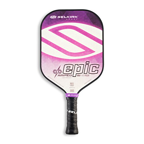 Selkirk Amped Pickleball Paddle - USAPA Approved - X5 Polypropylene Core - FiberFlex Fiberglass Face - 5 Sizes: Epic, S2, Omni, Maxima, and INVIKTA (Epic Lightweight - Amethyst Purple)