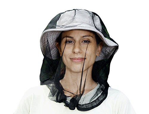 crocnfrog Ultra-Protective Mosquito Head Net | 1-Pack Premium Mosquito Netting Free Carry Bag Campers, Hikers, Fishermen Outdoor Lovers