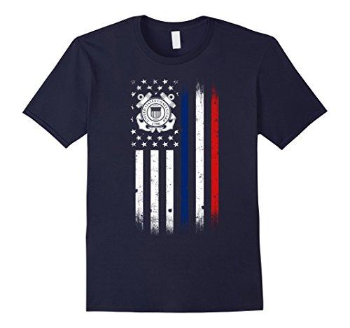 Mens US Coast Guard American Flag Tshirt XL Navy