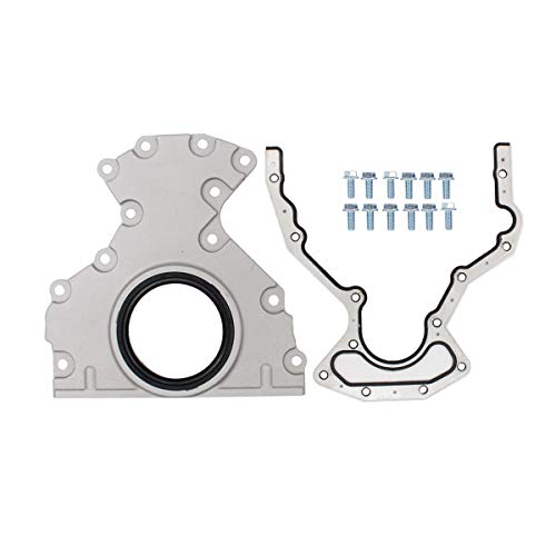 NewYall Crankshaft Rear Main Seal Cover with Housing Cover, Gasket, Bolt Kit ()