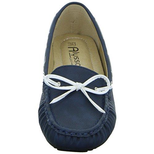 Alyssa 242014 Damen Slipper Halbschuh Casual Blau (Blau)