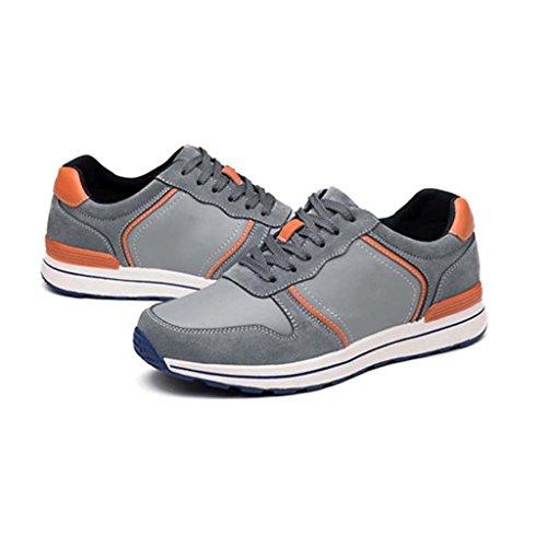 ZXCV Zapatos al aire libre Zapatos salvajes cómodos de los hombres calientes de los hombres corrientes de cuero respirables de los hombres Gris