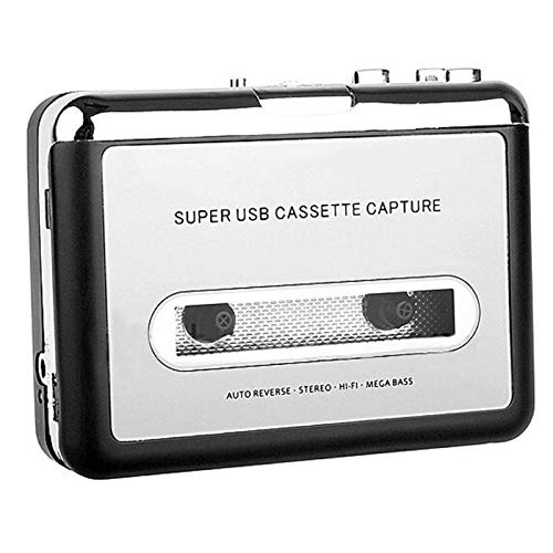 Cassette Player, Lyyes USB Cassette to MP3 Converter with Earphone Compatible with Laptop and PC (Best Cassette To Cd Converter)