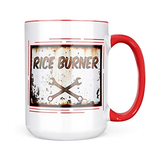Neonblond Custom Coffee Mug Rusty old look car Rice burner 15oz Personalized Name