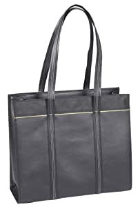 Microsoft Laptop Business Tote Bag / Handbag for Women |  Black with Tan Trim | Protects up to 15.6 Inch Laptops, Notebooks, Microsoft Surface, Tablets, Ultrabook, Chomebooks, MacBooks
