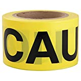 Intertape Polymer Group 600CC-300 Barricade Ribbon, 3-Inch x 300-Feet, Yellow/Black Caution