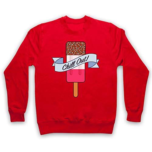 Adultos Ice Rojo Fab Out Retro Clothing Icon Chill My Art Lolly amp; Sudadera 68vna7q