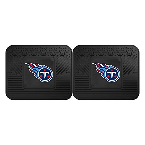 Tennessee Baseball Rug - Fanmats 12320 NFL Tennessee Titans Rear Second Row Vinyl Heavy Duty Utility Mat, (Pack of 2)