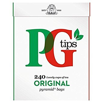 PG tips Pyramid Teabags 240 per pack - Pack of 2