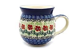Polish Pottery Mug - 11 oz. Bubble - Maraschino