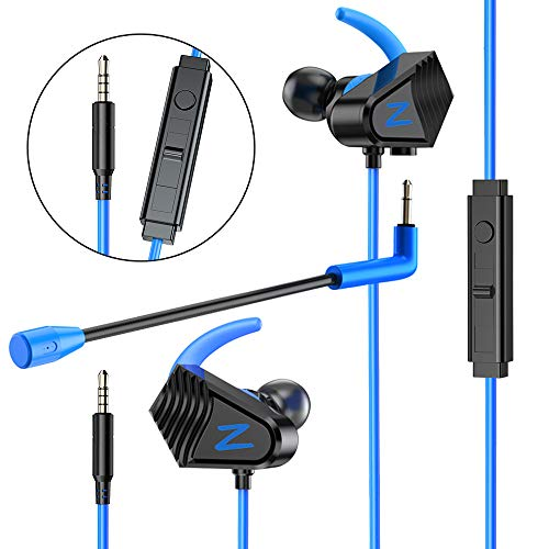 Gaming Earbuds, BENGOO V-13 Gaming Earphones Wired Gaming Earbuds Headset with Heavy Bass High Sound Quality 3.5mm Microphone Jack for PS4, X box One, Nintendo Switch, Mac, Laptop, PC Noise Cancelling