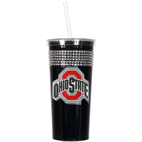 Ohio State University Buckeyes Travel Cup Tumbler with Straw