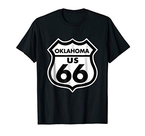 Route 66 tshirt Oklahoma Highway Sign ()
