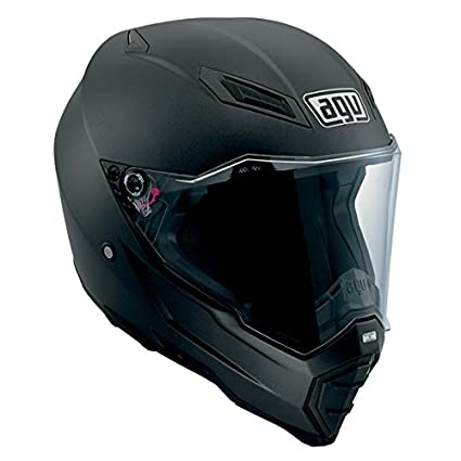 AGV AX-8 Evo Naked Road Helmet (Matte Black, Large)