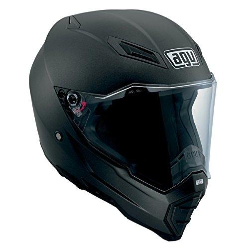 AGV AX-8 Evo Naked Road Helmet (Matte Black, XX-Large) (Best Helmet For Naked Bikes)