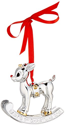 Lenox Rudolph the Red Nosed Reindeer, 2015 Baby's 1st Christmas Rudolph Ornament Baby's First Christmas Ornament Lenox