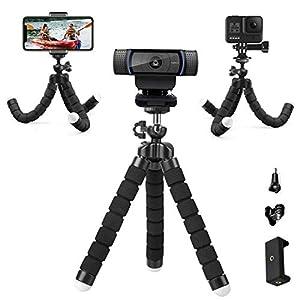 Flexible Desk Webcam StandAdjustable Premium Phone HolderPortable Sponge Camera Tripod Compatible gopro