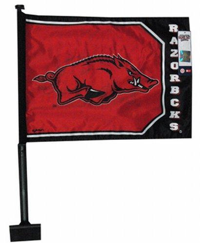 NCAA Arkansas Razorbacks Car Flag