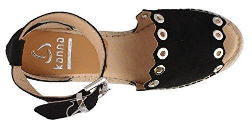 Black Wedge Kv8404 Sandals Capri KANNA Women's aqwZ77